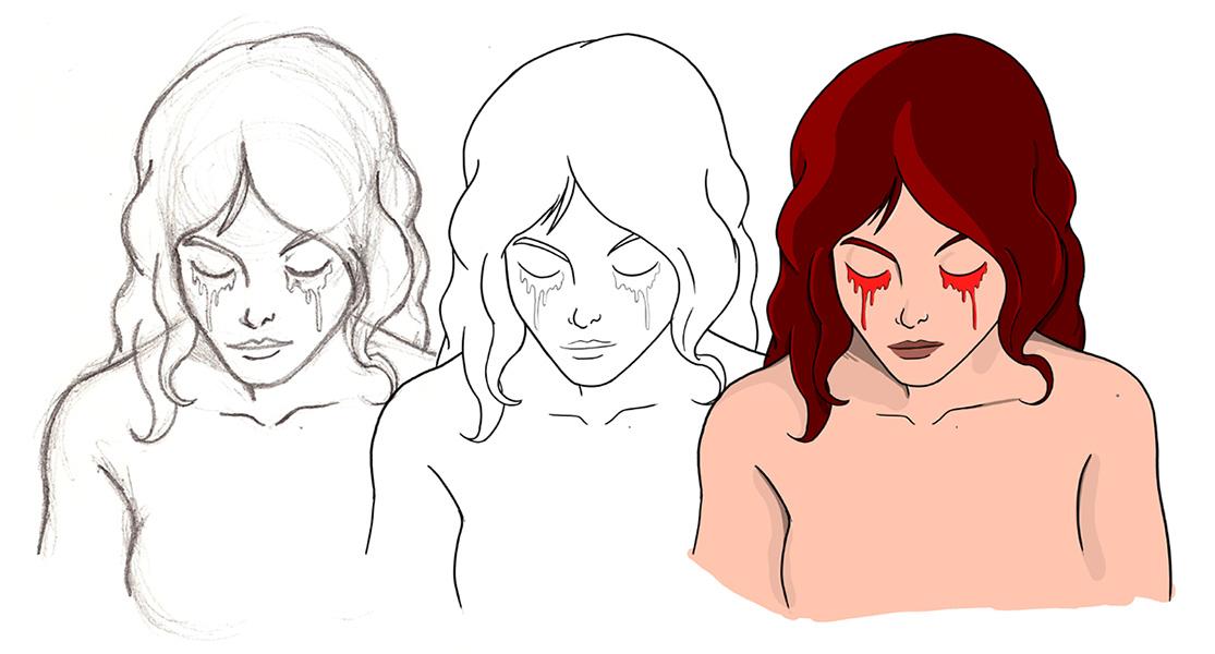 Corriente-sanguinea-proceso-dibujo